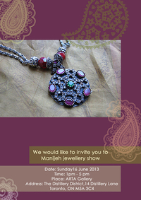 Jewellery designed by Manijeh Rafie